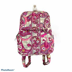Vera Bradley Backpack Pink & Grey Paisley & Plaid